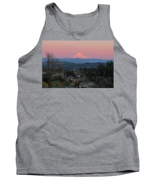 Mount Hood Over Happy Valley Oregon Tank Top