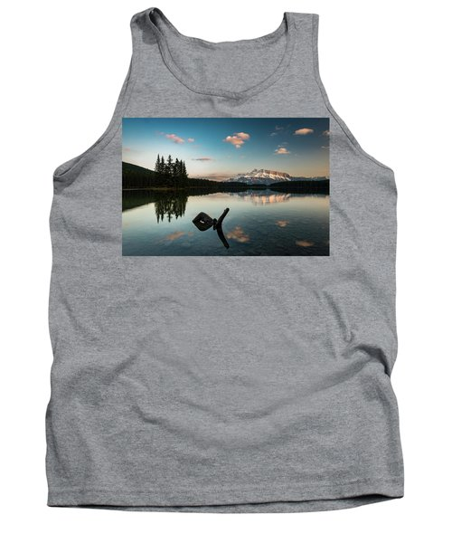 Mount Rundle And Two Jack Lake Tank Top