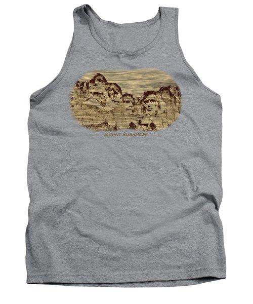 Mount Rushmore Woodburning 2 Tank Top