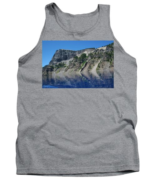 Tank Top featuring the photograph Mountain Blue by Laddie Halupa