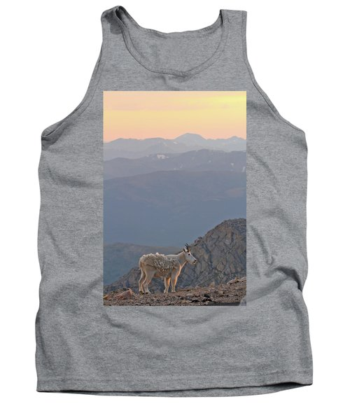 Tank Top featuring the photograph Mountain Goat Sunset by Scott Mahon