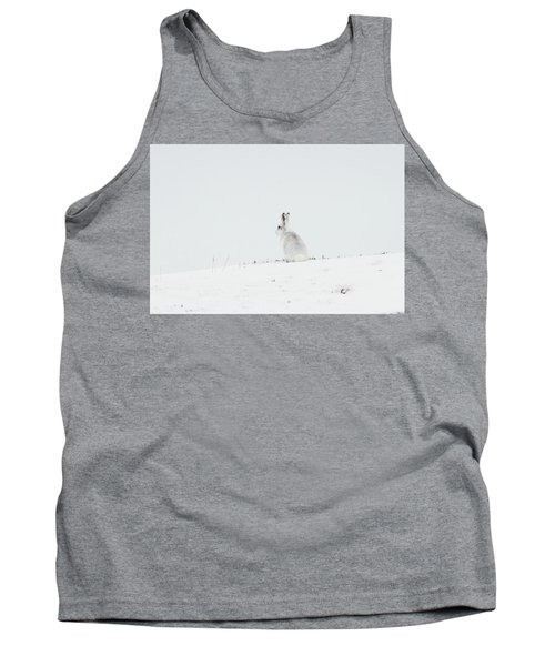 Mountain Hare Sat In Snow Tank Top