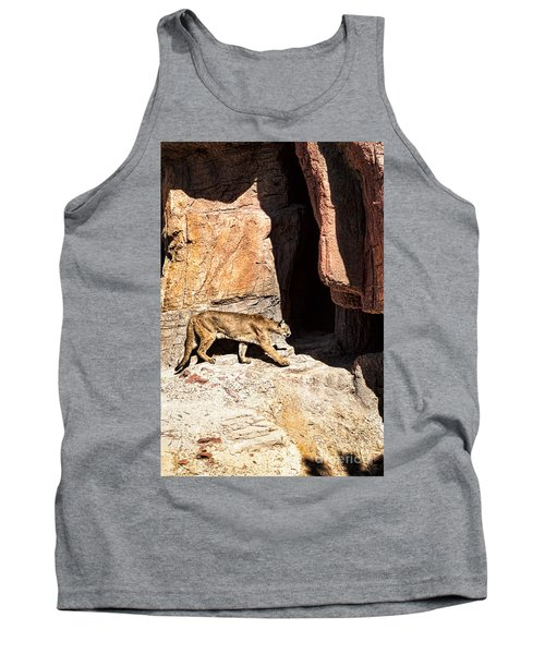 Mountain Lion Tank Top by Lawrence Burry