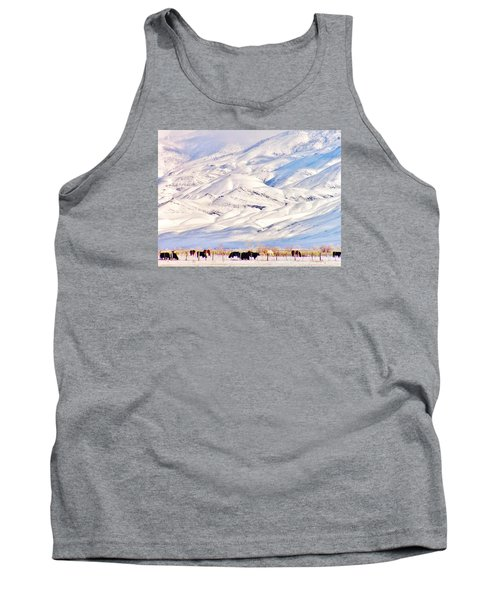 Mountain Snow Tank Top by Marilyn Diaz