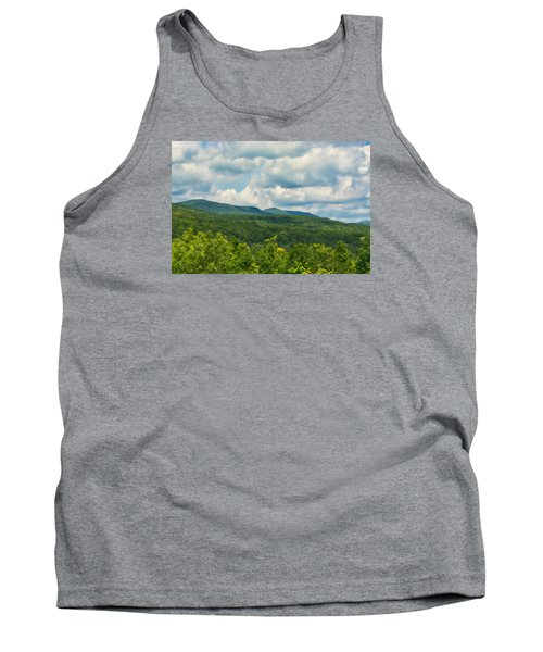 Tank Top featuring the photograph Mountain Vista In Summer by Nancy De Flon