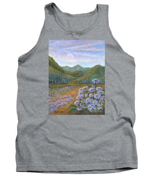 Mountains And Asters Tank Top by Holly Carmichael