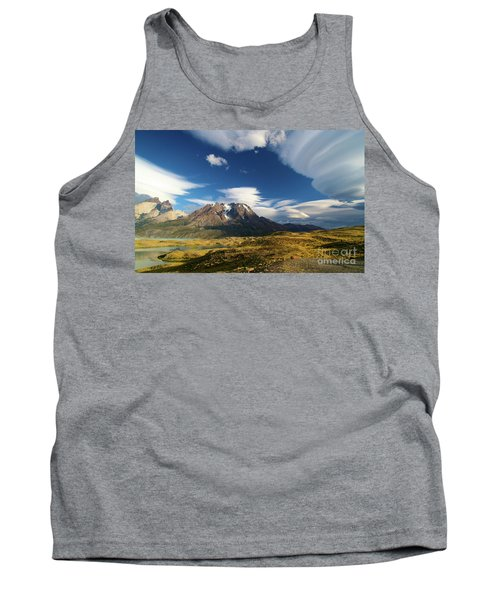 Mountains And Clouds In Patagonia Tank Top