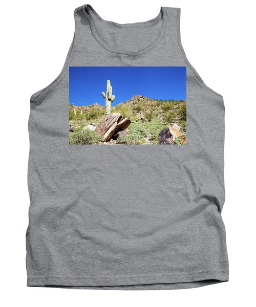 Mountainside Cactus 2 Tank Top by Ed Cilley