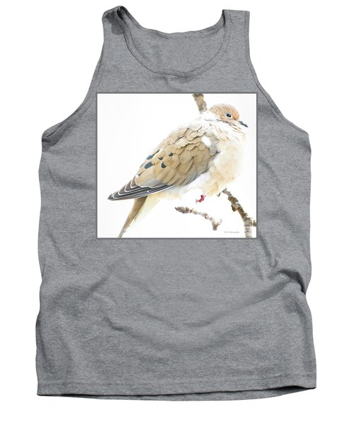 Mourning Dove, Snowy Morning Tank Top by A Gurmankin