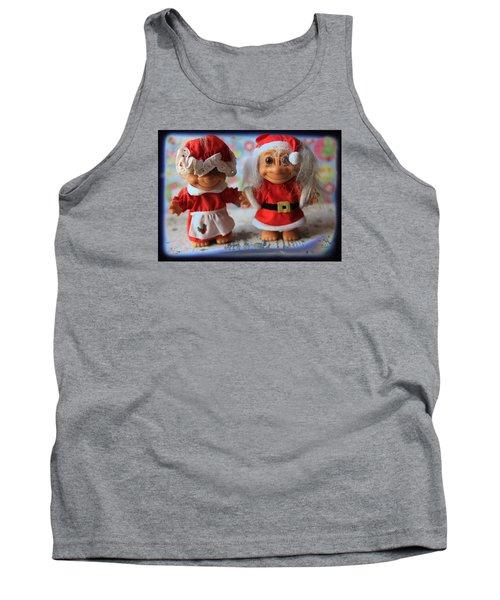 Mr And Mrs Santa Troll Tank Top