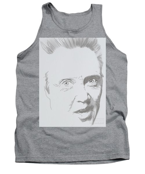 Tank Top featuring the mixed media Mr. Walken by TortureLord Art