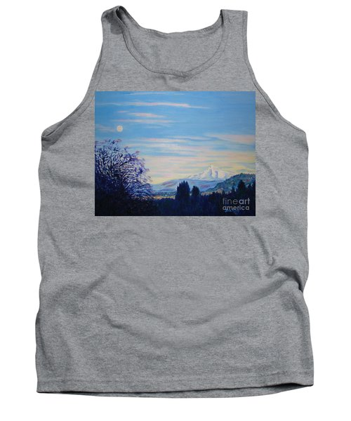 Mt Hood A View From Gresham Tank Top by Lisa Rose Musselwhite