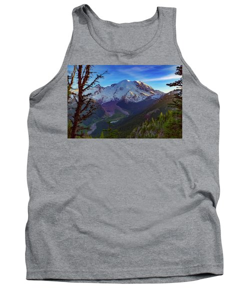 Mt Rainier At Emmons Glacier Tank Top