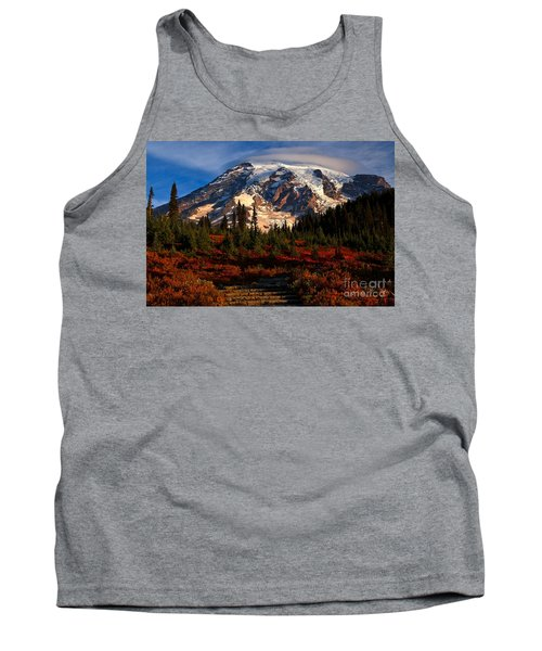 Mt. Rainier Paradise Morning Tank Top by Adam Jewell