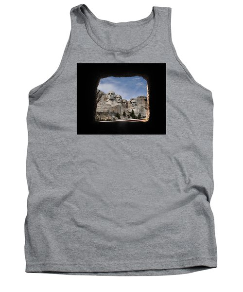 Tank Top featuring the photograph Mt Rushmore Tunnel by David Lawson