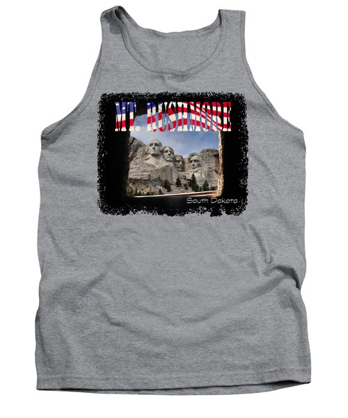 Mt. Rushmore -tunnel Vision Tank Top by David Lawson