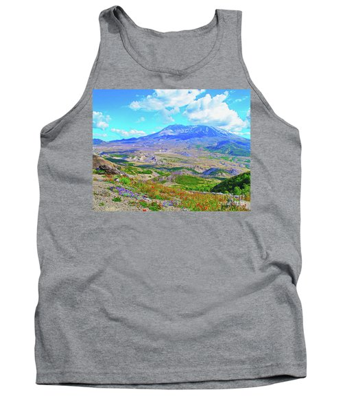 Mt. St. Helens Wildflowers Tank Top by Ansel Price