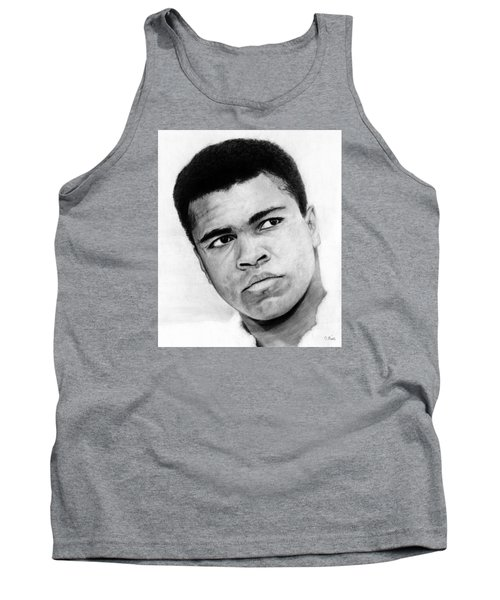 Muhammad Ali Pencil Drawing Tank Top