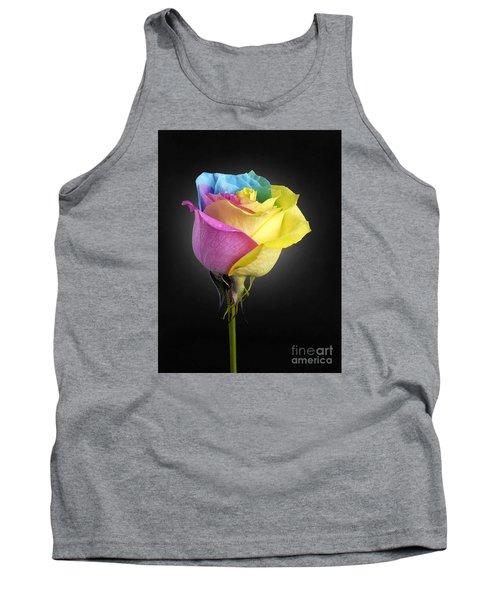 Rainbow Rose 1 Tank Top by Tony Cordoza