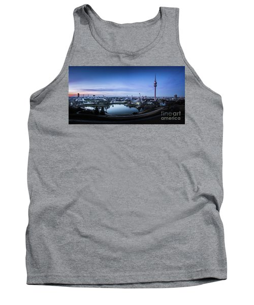 Tank Top featuring the photograph Munich - Watching The Sunset At The Olympiapark by Hannes Cmarits