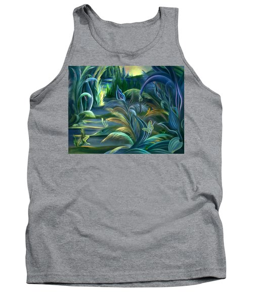 Mural  Insects Of Enchanted Stream Tank Top