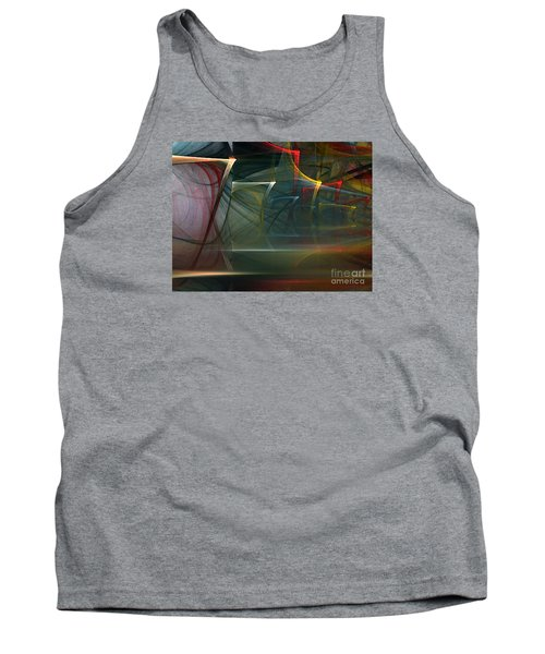 Tank Top featuring the digital art Music Sound by Karin Kuhlmann
