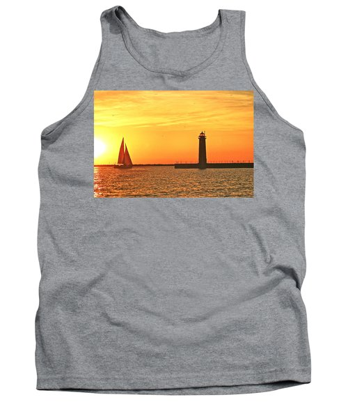 Muskegon Sunset Tank Top by Michael Peychich