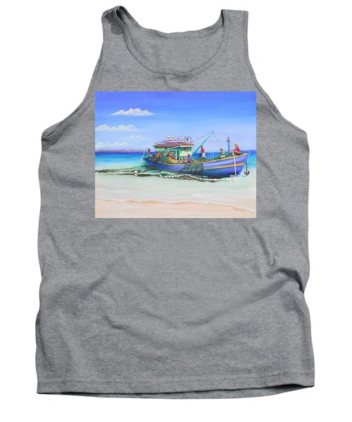 Tank Top featuring the painting Mv Alice Mary by Patricia Piffath