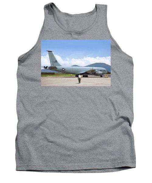 Tank Top featuring the digital art My Baby Kc-135 by Peter Chilelli
