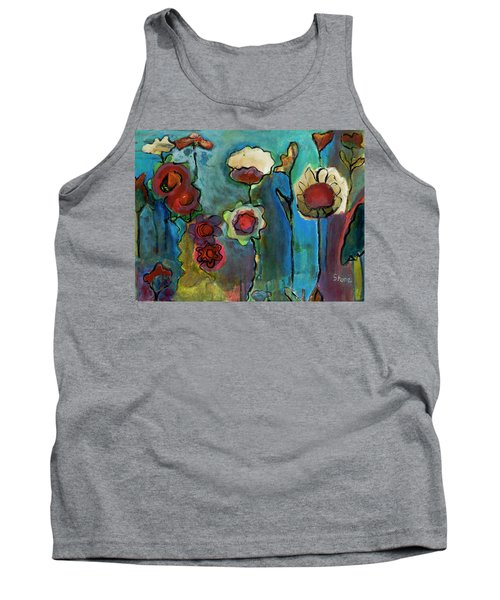 Tank Top featuring the painting My Mother's Garden by Susan Stone