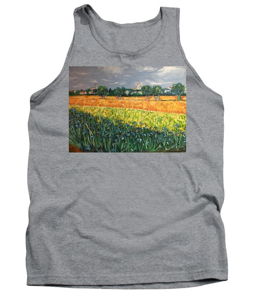 My View Of Arles With Irises Tank Top