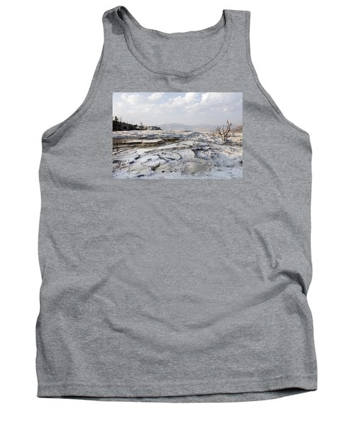 Mystic Scene From The Lower Terrace In Yellowstone National Park Tank Top