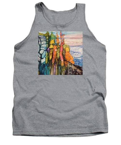 Tank Top featuring the painting Mystical Garden by Suzanne Canner