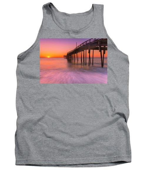 Nags Head Avon Fishing Pier At Sunrise Tank Top