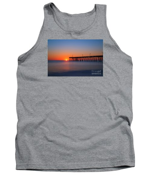 Nags Head Fishing Pier Sunrise Tank Top