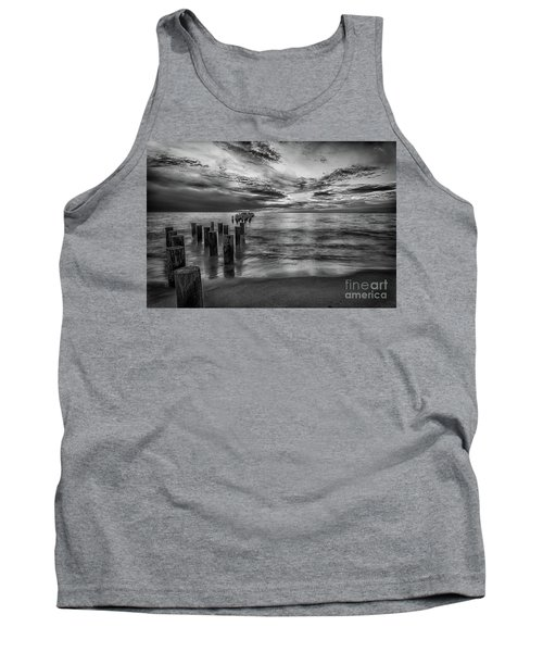 Naples Sunset In Black And White Tank Top