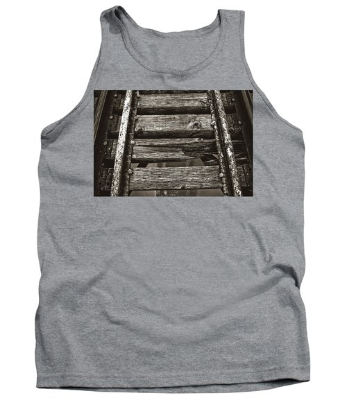Narrow Gauge Tracks #photography #art #trains Tank Top