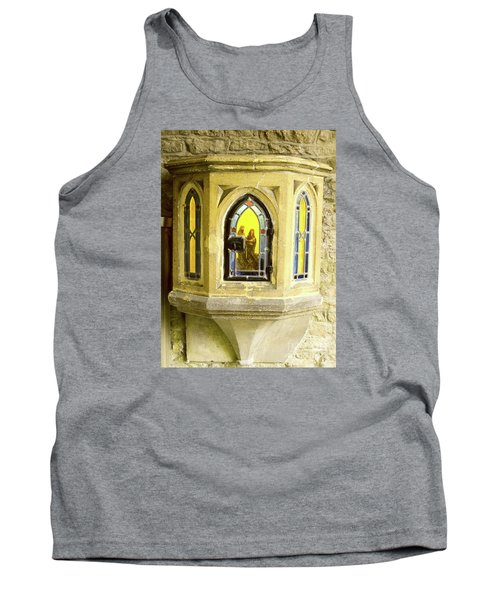 Nativity In Ancient Stone Wall Tank Top by Linda Prewer