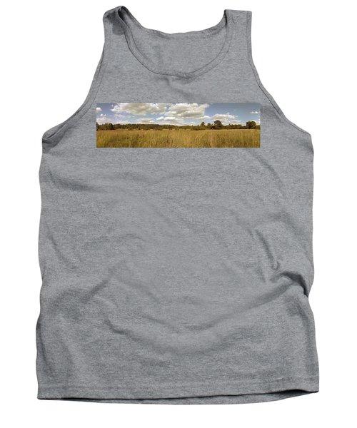 Natural Meadow Landscape Panorama. Tank Top