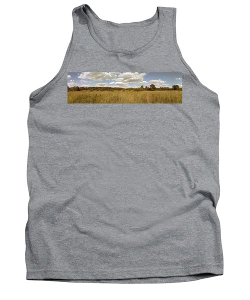 Natural Meadow Landscape Panorama. Tank Top
