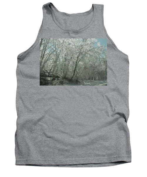 Tank Top featuring the photograph Nature's Frosting by Ellen Levinson