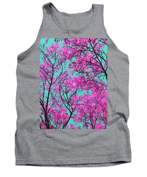 Natures Magic - Pink And Blue Tank Top