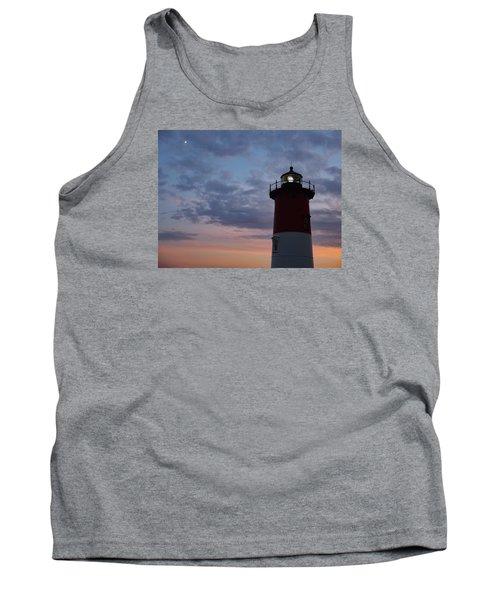 Nauset Light Lighthouse At Sunset Tank Top