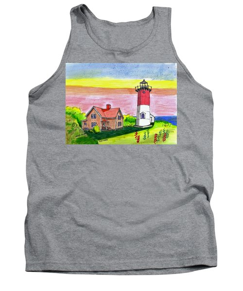 Nauset Point Lighthouse Tank Top by Paul Meinerth