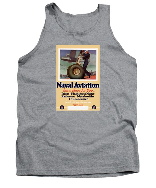 Naval Aviation Has A Place For You Tank Top by War Is Hell Store