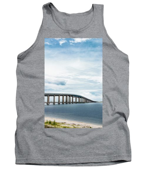 Tank Top featuring the photograph Navarre Bridge In Florida On The Sound Side by Shelby Young