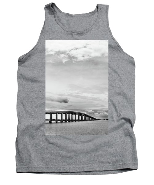 Tank Top featuring the photograph Navarre Bridge Monochrome by Shelby Young