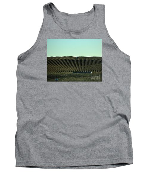 Tank Top featuring the photograph Nebraska Corn Rows by Mark McReynolds