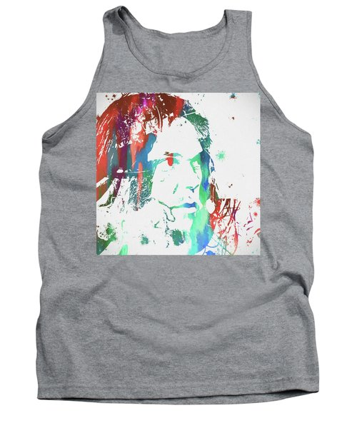 Neil Young Paint Splatter Tank Top by Dan Sproul