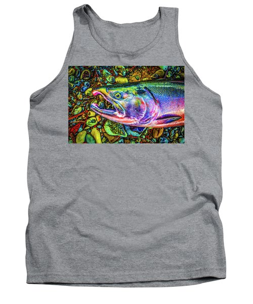 Neon Coho  Tank Top